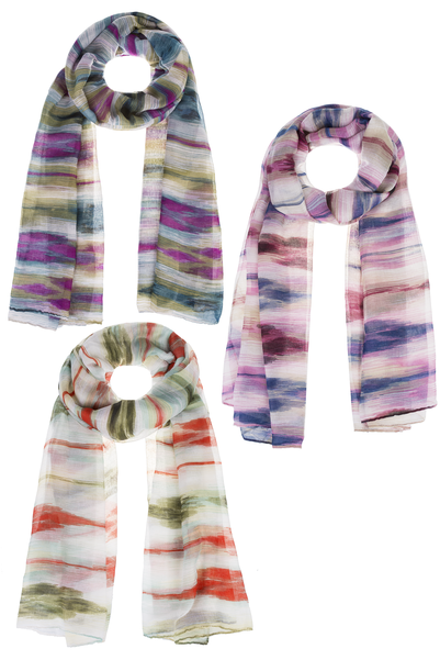 Painted Skies Around The World, Assorted Scarves