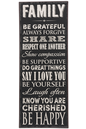 Family Rules, Art Plaque