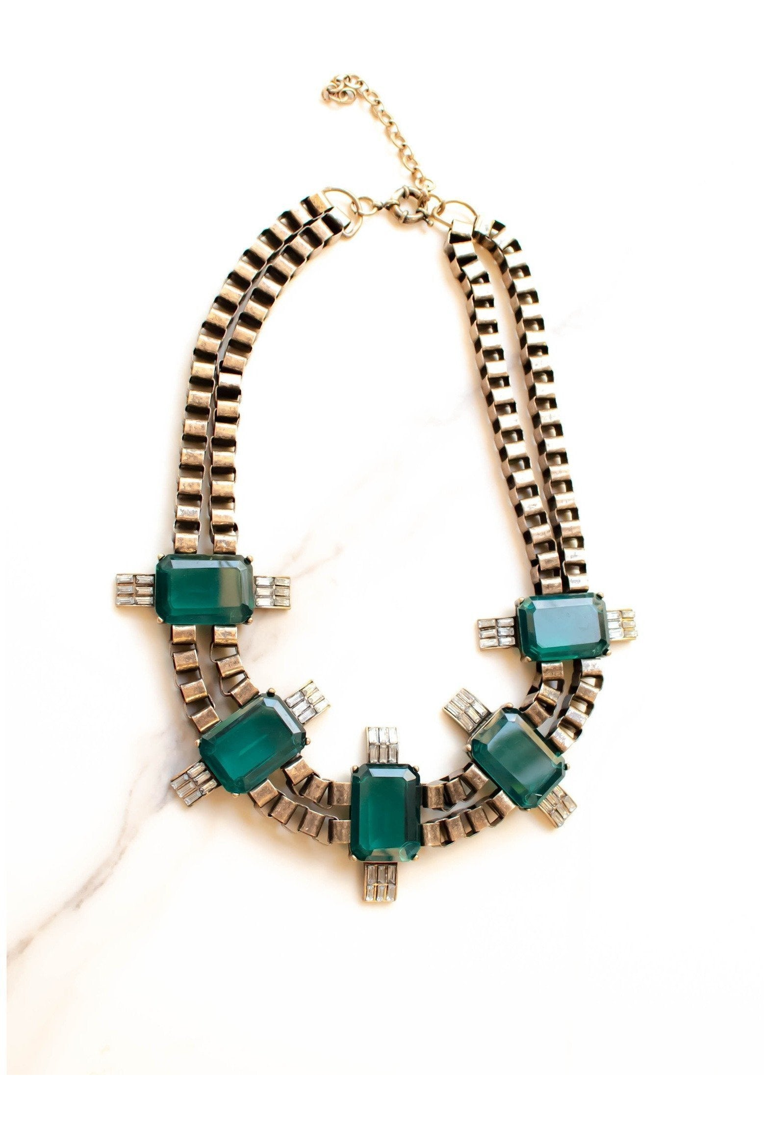 Details In Deco, Emerald Statement Necklace