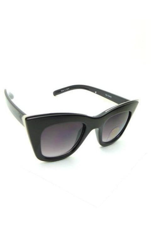 Fashionably Late Sunglasses, BLACK - RMC Boutique