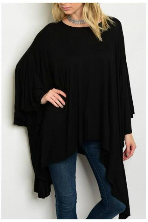 Flow Like The Rivers, Black Tunic Top
