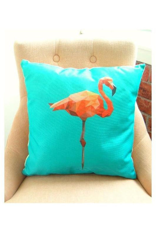 "Geometric Flamingo Decorative Pillow 18"" - RMC Boutique"