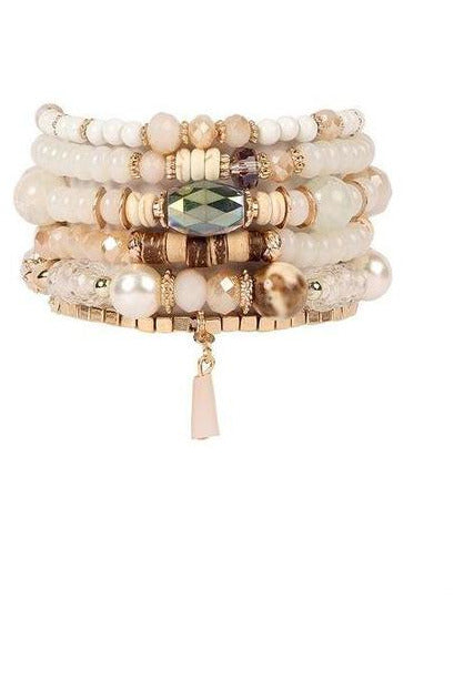 NATURAL MULTI STONE BEADS STACKABLE BRACELET - RMC Boutique
