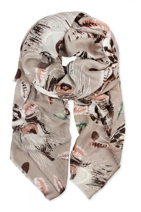 Flowing Feathers Abstract Scarf