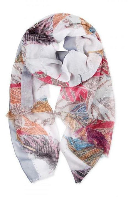 Feathers Of The World Abstract Scarf