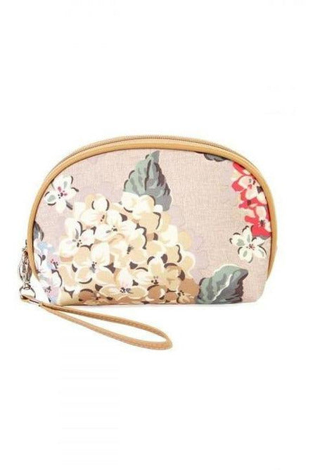 Golden Floral Bliss Cosmetic Bag