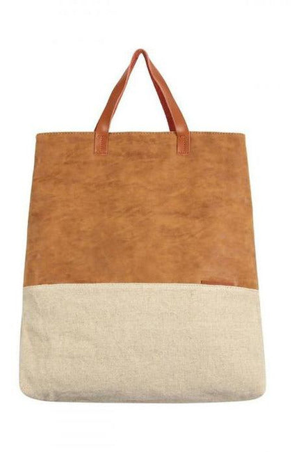 Leather And Linen Everyday Tote
