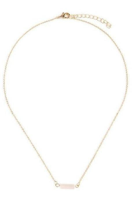 Dainty Bar Stone Necklace