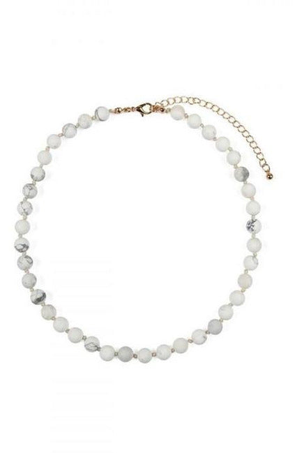 WHITE  NATURAL STONE NECKLACE