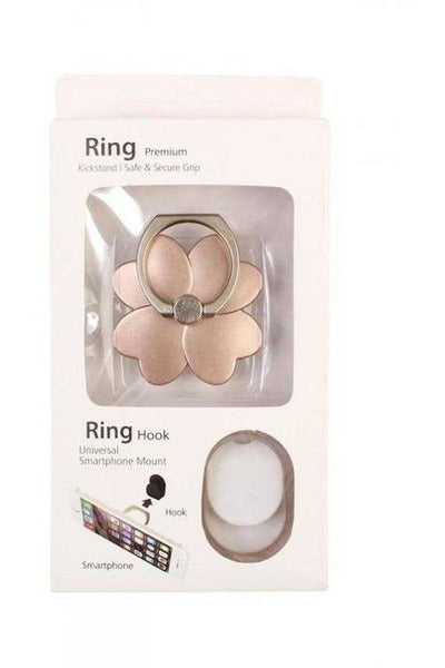 Rose Gold Flower Phone Ring Kick Stand - RMC Boutique