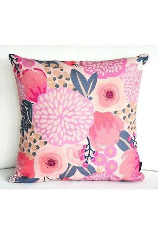 "Happy and Floral Decorative Pillow 18"" - RMC Boutique"