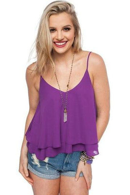 Buddy Love: Holly Tank- Purple