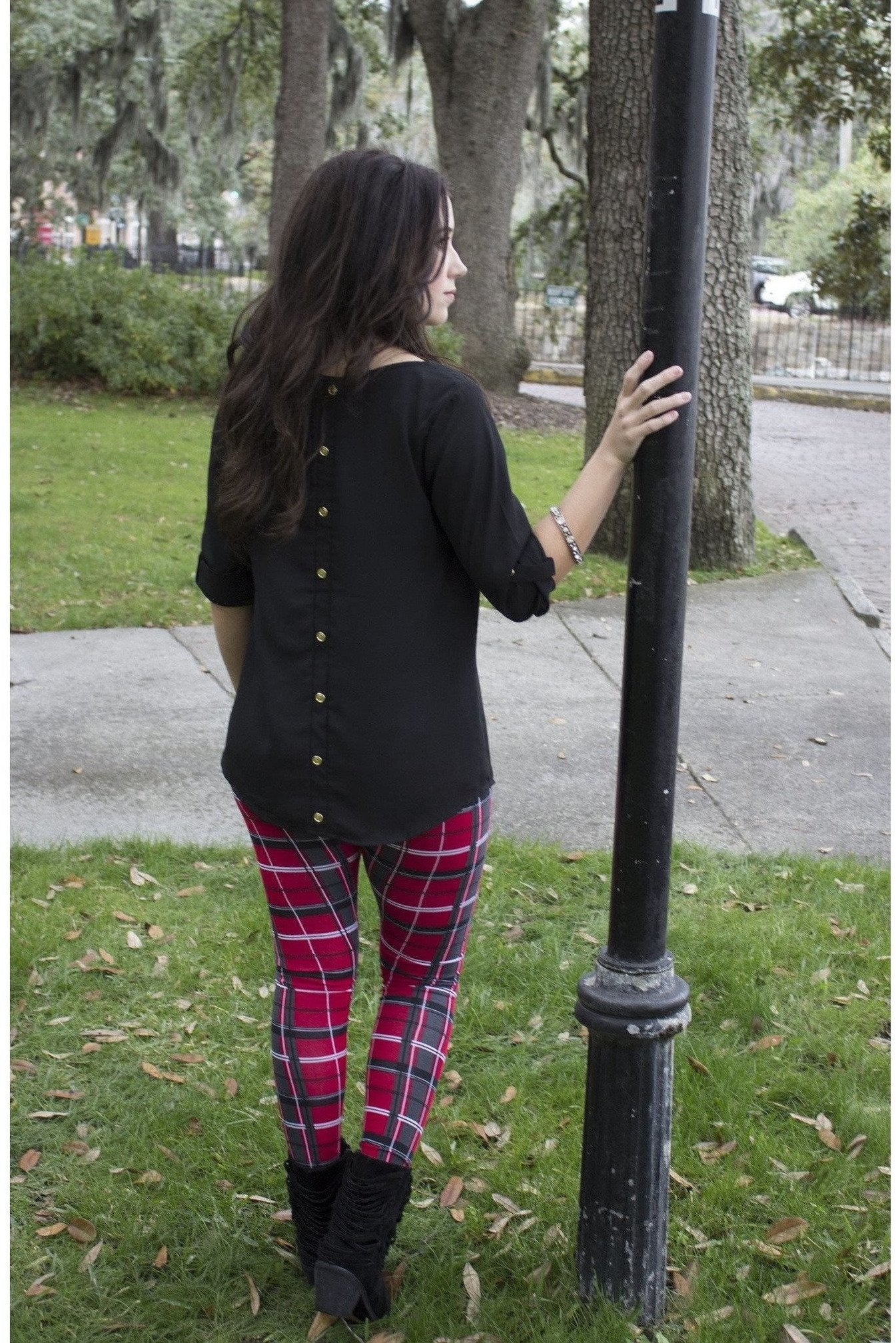 Plaid Print Leggings - RMC Boutique