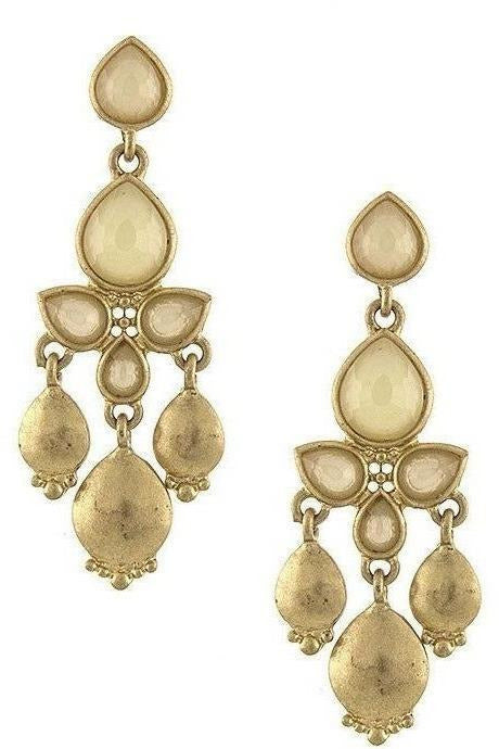 Rockin' Moroccan Inspired Chandelier Earrings - Sand - RMC Boutique