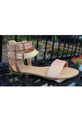 Tory's Rose Gold Strappy Sandal - RMC Boutique