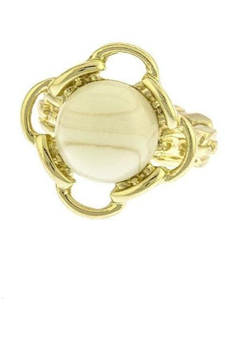 Stone Jewel Ring- Ivory - RMC Boutique