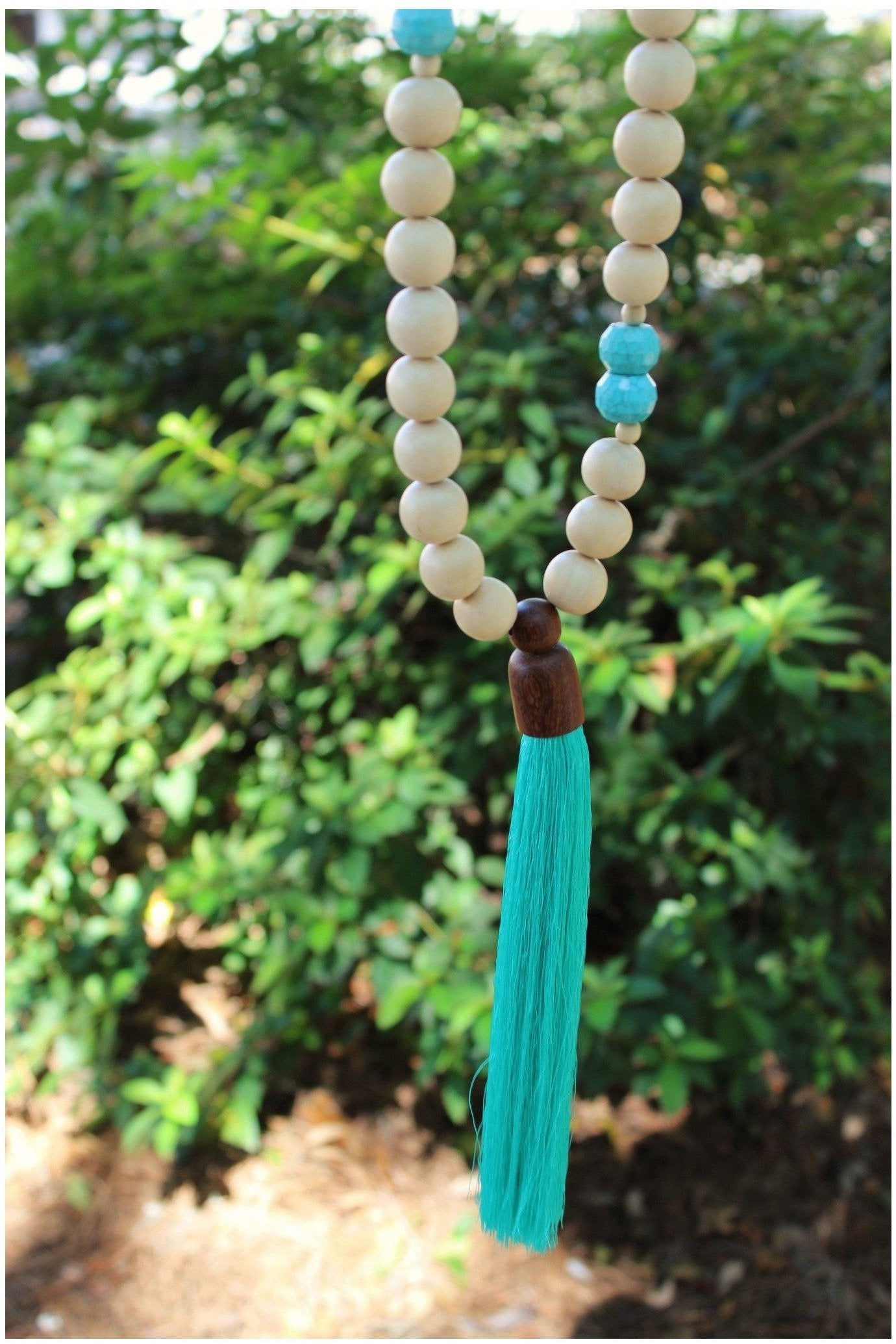 Tessa's Wooden Bead Tassel Necklace - RMC Boutique