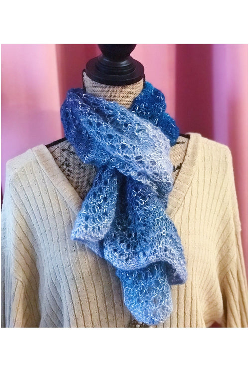 "WITH LOVE FROM JEANIE ""Blue Heaven"" Mini Scarf"