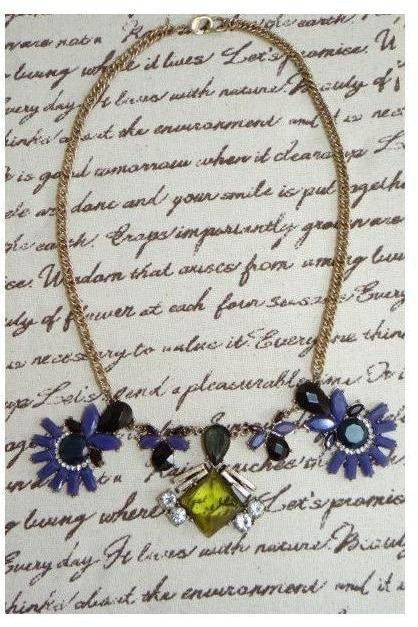 """I Shine At Night"" Glam Lux Bib Necklace - RMC Boutique"
