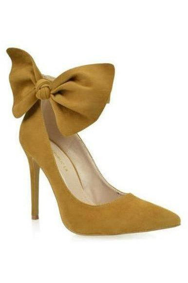 In The Spotlight Bow Pump, Chestnut - RMC Boutique