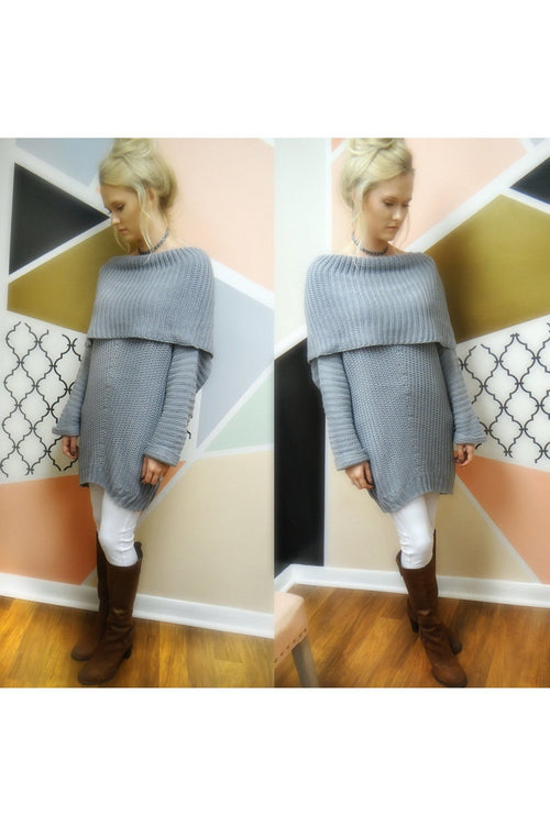 It's Better In A Sweater, Frosty Blue - RMC Boutique