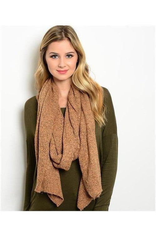 Heather-ed Knit Scarf, Khaki - RMC Boutique