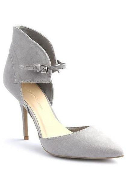 Gray Ankle Strap Heels - RMC Boutique