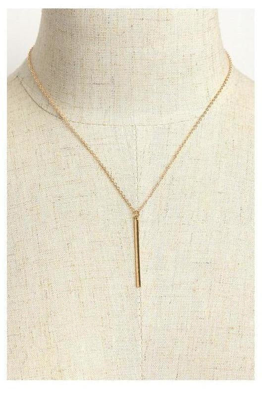 Raise The Bar Drop Dainty Necklace - RMC Boutique