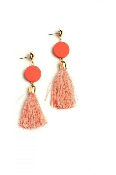 Bold Color Tassel Earrings