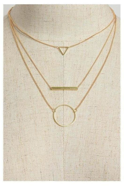 Simple Layering Three Layer Necklace
