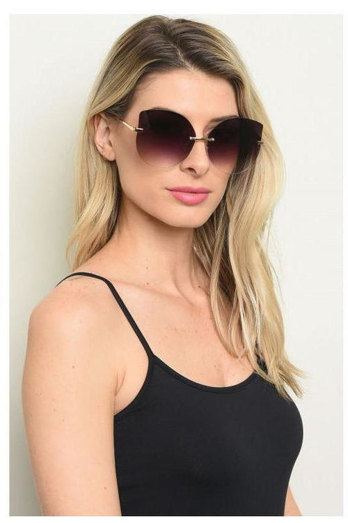 Frameless Winged Out Sunglasses