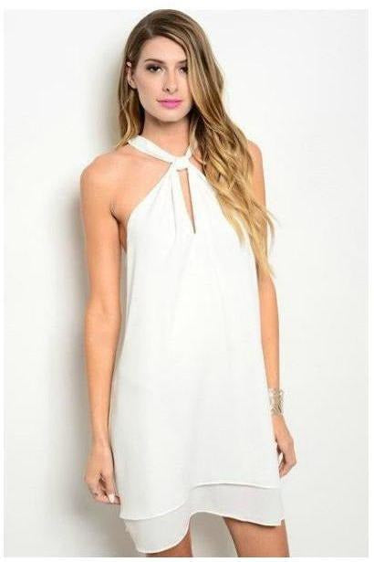 Just The Two Of Us Ivory Wrap Collar Dress - RMC Boutique  - 1