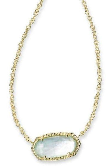Kendra Scott: Elisa Necklace In  Gold Tone In Light Blue Illusion