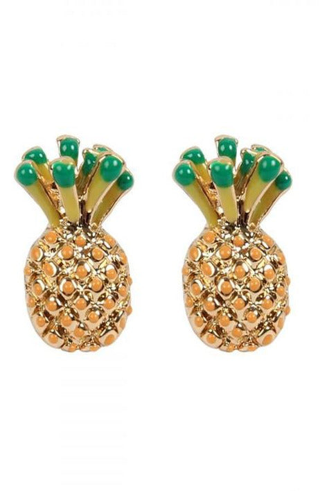 Vivid Color, Pineapple Studs - RMC Boutique