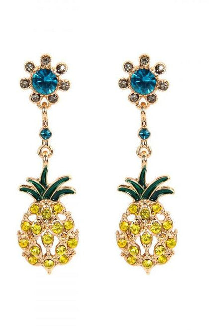 Life Of The Party, Pineapple Dangle Earrings - RMC Boutique