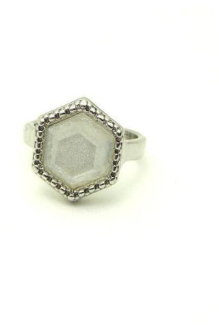 RRC - 26-501 - Ripple Ring Assorted Stones - Natural Chalcedony