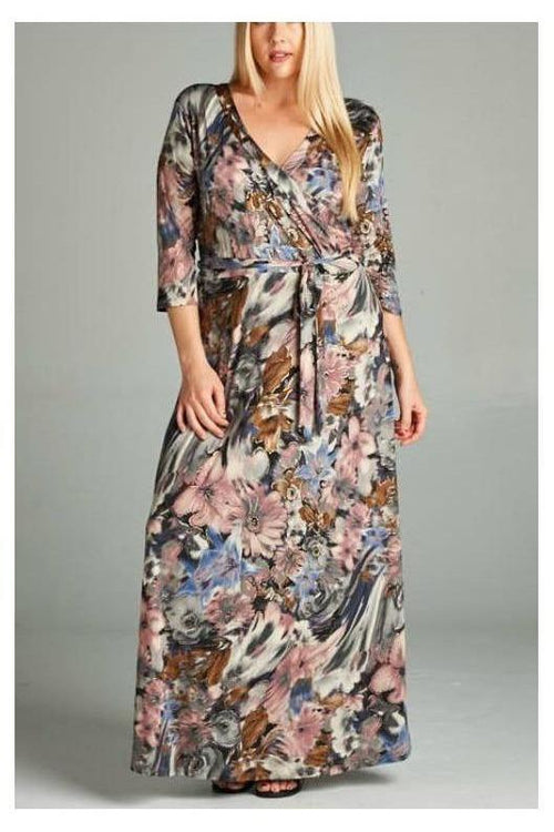 Misty Morning, Doman Maxi Dress, Plus Size