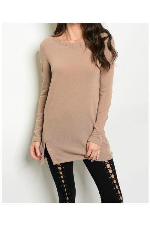 Simple And Sweet, Sweater, Mocha