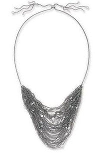 Kendra Scott: Anastasia Multi-Row Chain Necklace, Gray Metallic - RMC Boutique