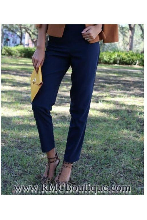 Jealous Tomato: Navy Blue Trousers - RMC Boutique  - 1