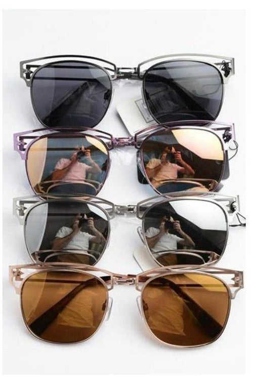 One Step Ahead, Mirrored Sunglasses - RMC Boutique  - 1