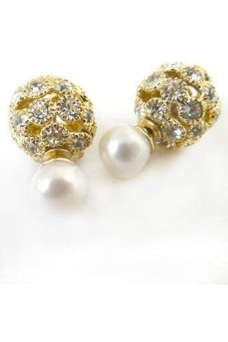 Pave' Peek A Boo Studs - RMC Boutique  - 1