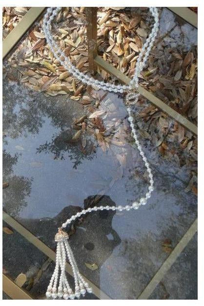 Pearl Tassel Necklace - RMC Boutique