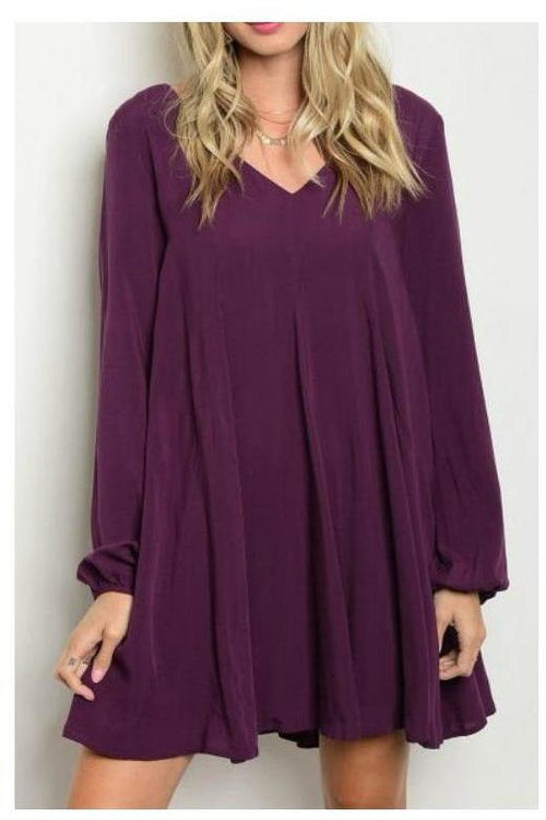 Perfect In Plum, Shift Dress