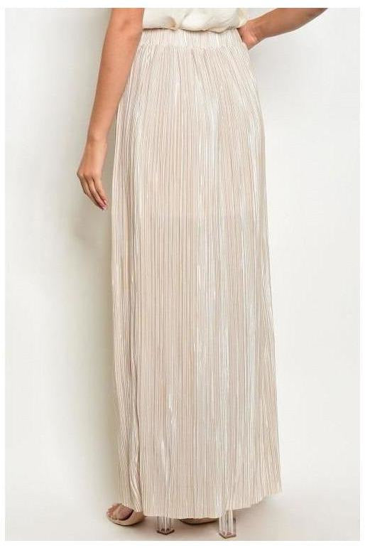 Shimmer Shimmer Shake, Pleated Maxi Skirt