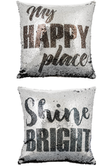 Sequins Pillow - My Happy Place
