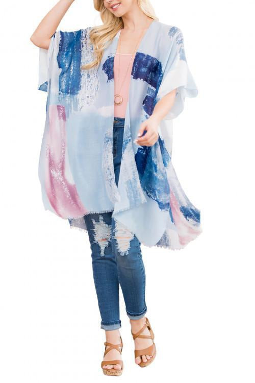 Sheer Short Sleeve Flowing Kimono - RMC Boutique