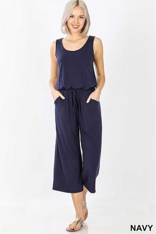 Run Around Town, Casual Sleeveless Jumpsuit - RMC Boutique