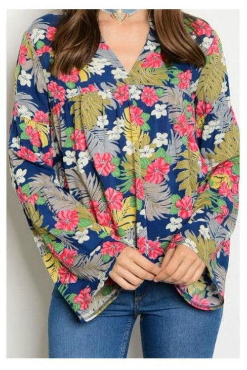 South Pacific Floral Top