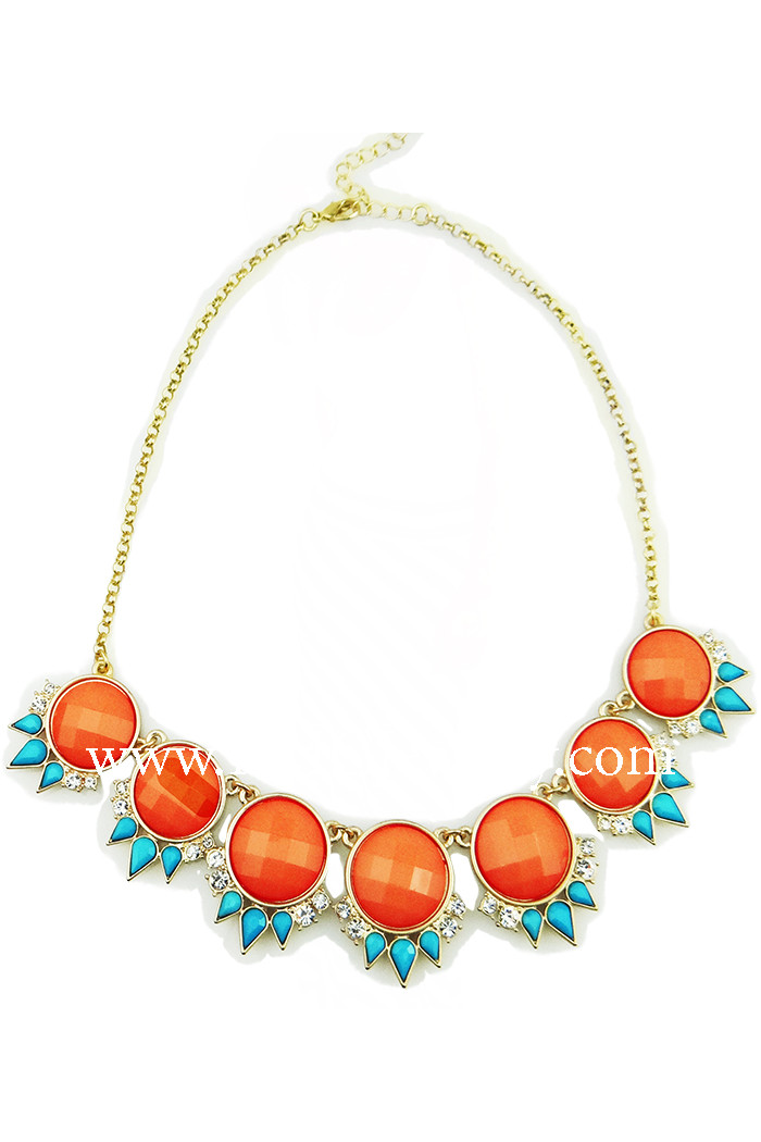 Bubble and Spikes Statement Bib Necklace - RMC Boutique